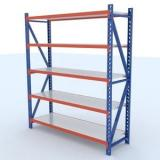 Industrial shelving Medium duty adjustable metal shelving rack storage holders and racks 5 layers steel storage rack